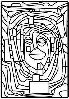 Hundertwasser Coloring Page Sketch Coloring Page