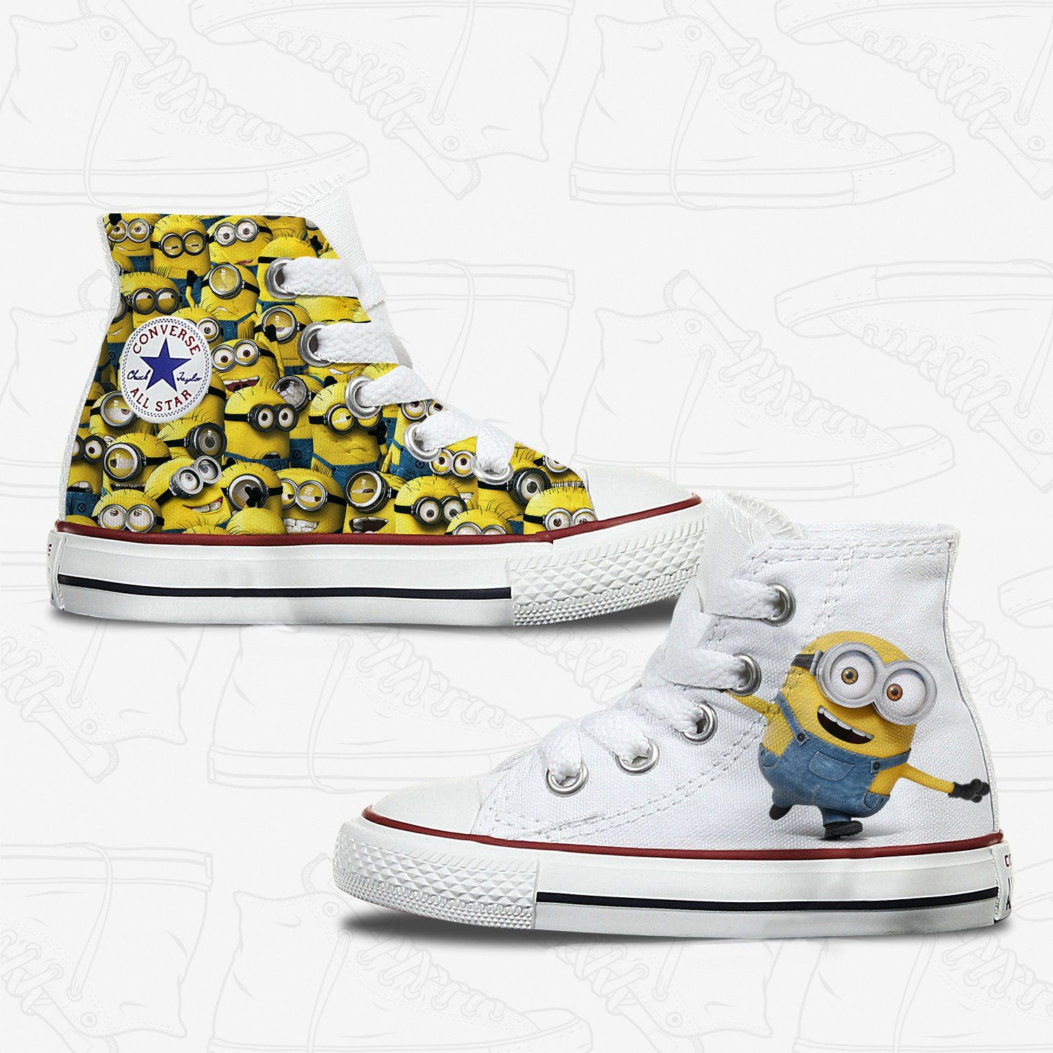 Toddler Minions Custom Converse Kids Converse Shoes Personalized Converse Converse Shoes Womens