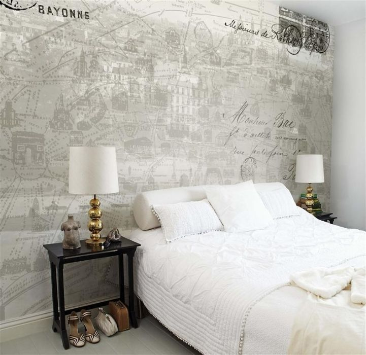 Wallpaper, Map, Mural, Paris #mural #map #paris
