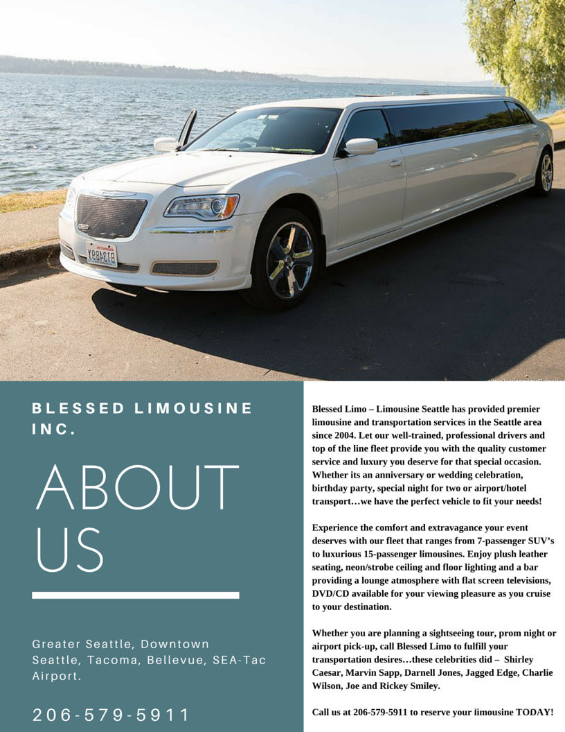 Read about Blessed Limousine Inc. and find out who we are and how are we the best limo company in Seattle, Washington. #Seattle #Limousine #service.