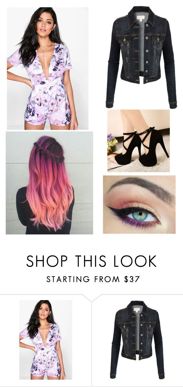 """Untitled #3800"" by sammisaurusrex ❤ liked on Polyvore featuring Boohoo, Kat Von D, Victoria's Secret and LE3NO"