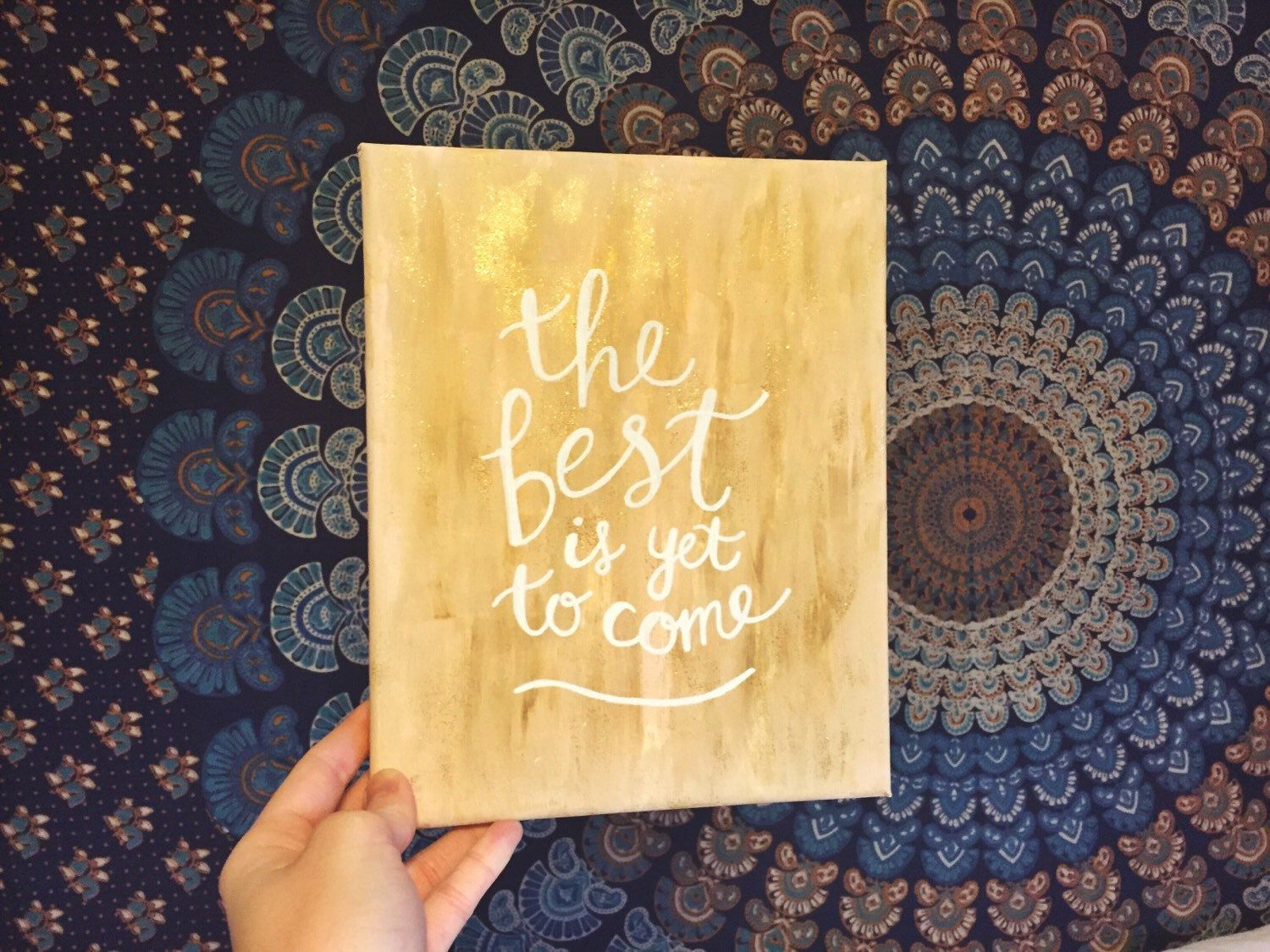 The Best Is Yet To Come - 8x10 Inspirational Wall Art - Abstract ...