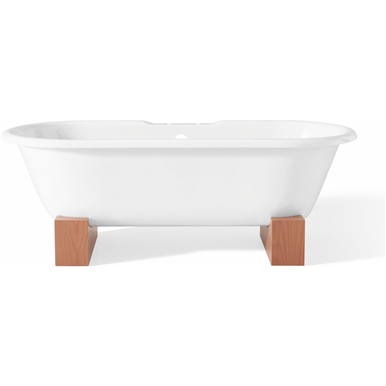 Cheviot Regal 68 X 31 Freestanding Soaking Bathtub White White