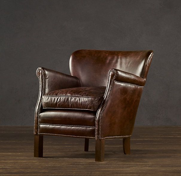 i finally bought myself this professor's leather chair in chestnut