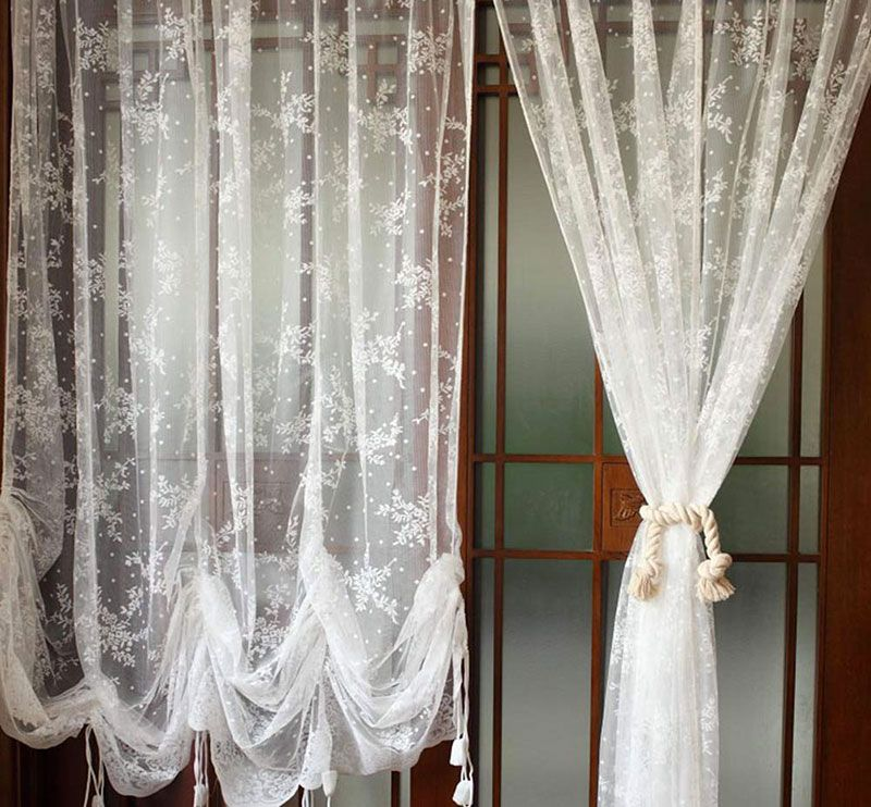 40 Shabby Chic Curtains For The Home Living Room Kitchen
