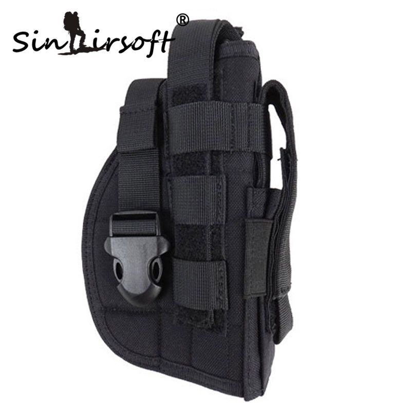 Sinairsoft Tactical Gun Holster Molle Modular Pistol Holster for Right Handed Shooters 1911 45 92 96 Glock