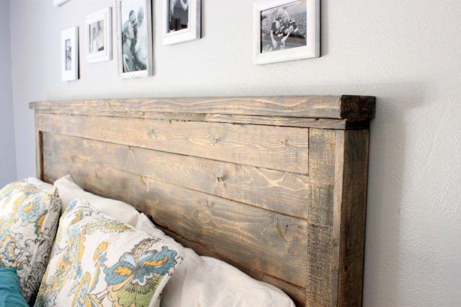 Reclaimed Wood Headboard Queen Size Rustic Headboard Diy