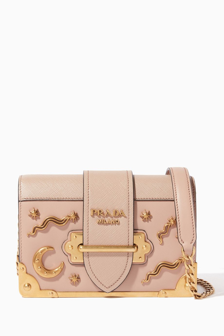 51ac39c19643 Shop Luxury Prada Beige Mini Moon & Star Cahier Bag | Ounass UAE ...