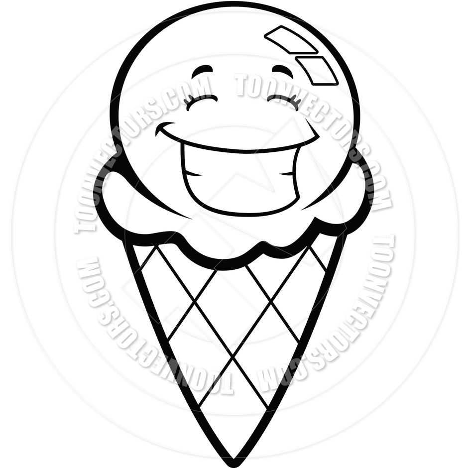 Morning Black And White Ice Cream Coloring Pages Free Printable ...