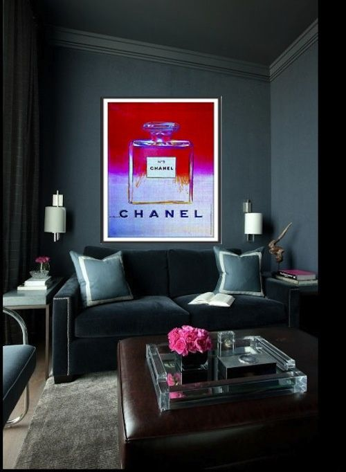 Chanel Inspired | There's no place like home | Dark living ...