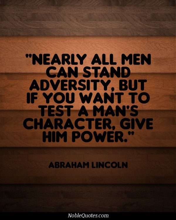 Give A Man Power Quote : power, quote, Adversity, Quotes