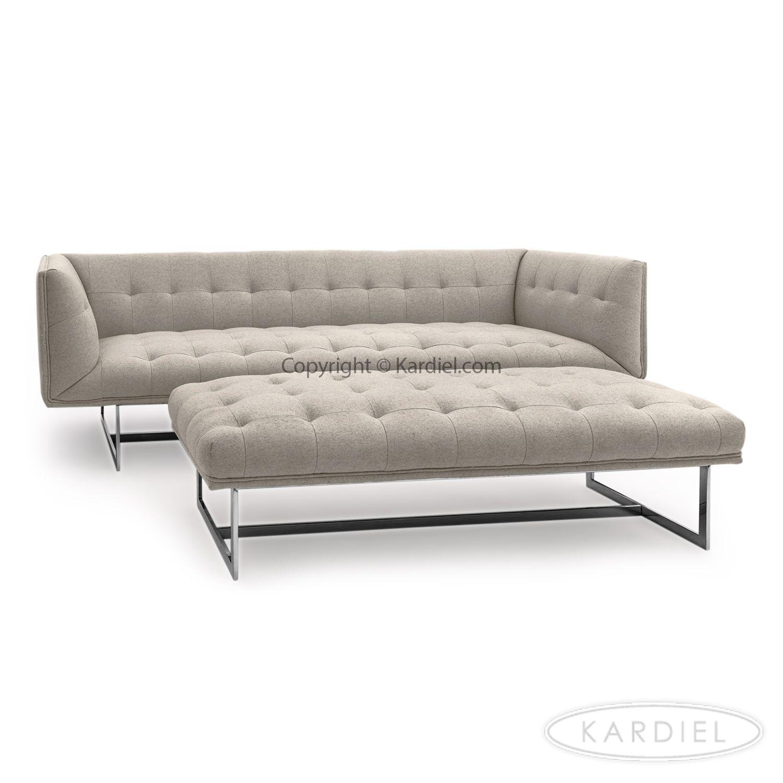 Edward Mid Century Modern Classic Sofa Heather White Cashmere