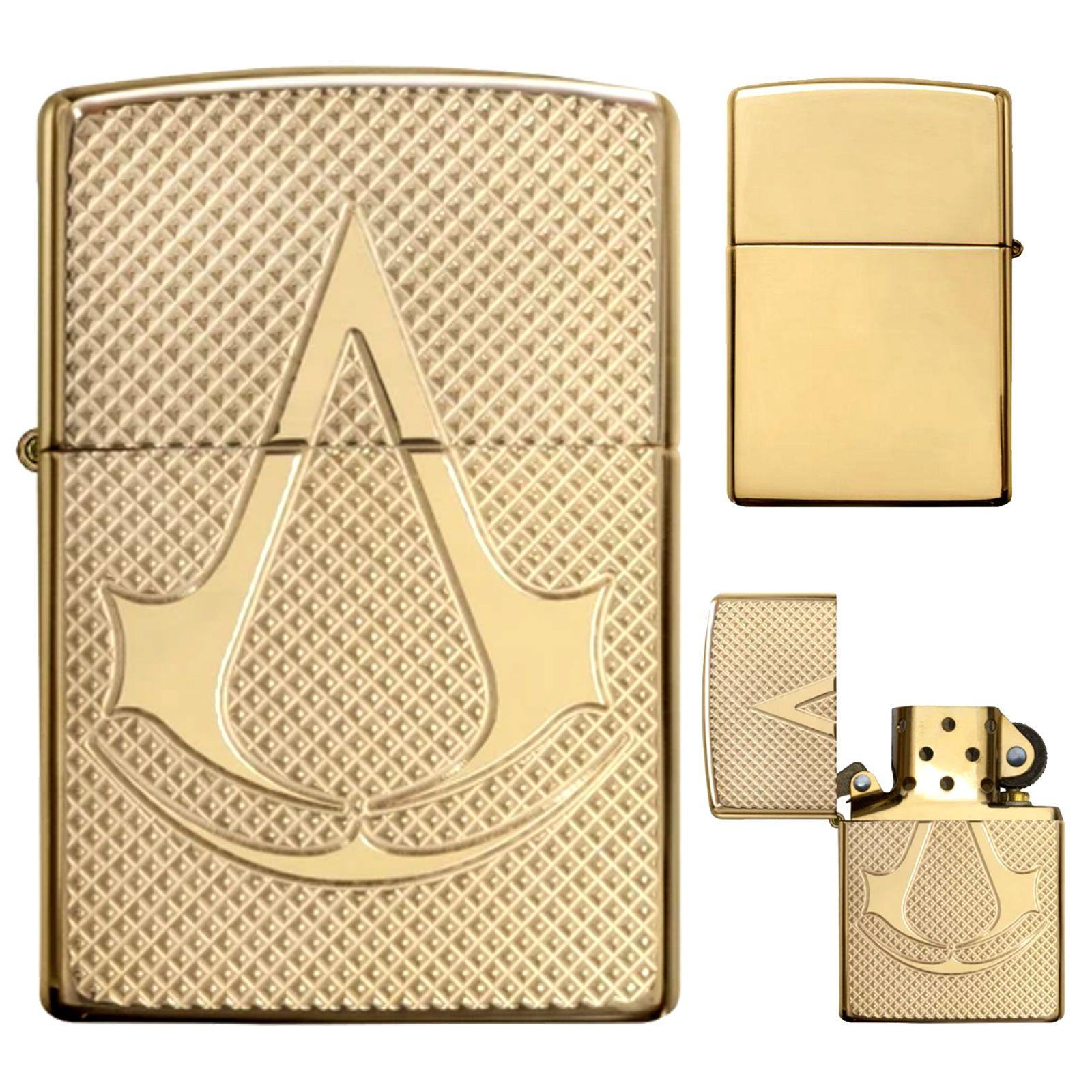 Zippo Lighter Assassin S Creed Gold High Polish Brass Emblem