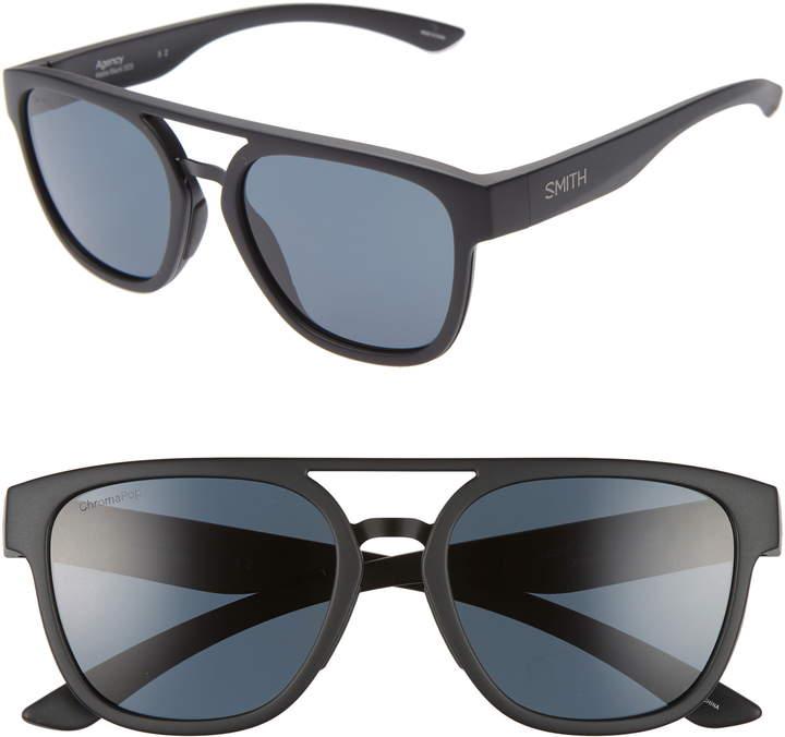 42b791446eec1 Women s Smith Agency 54Mm Chromapop™ Polarized Flat Top Sunglasses ...