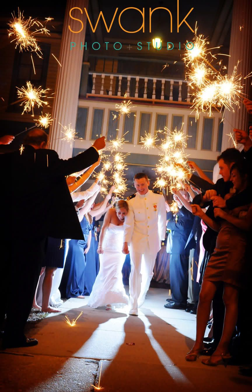 exit with sparklers!