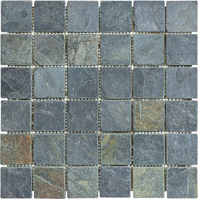 Slate Tile 2 Quot X 2 Quot Mosaic African Gold African Gold