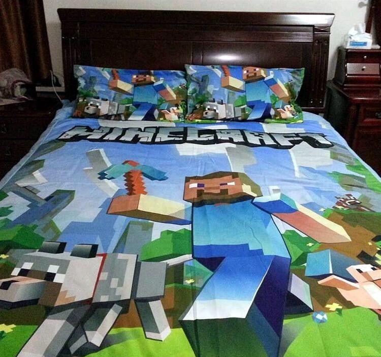 Minecraft Inspired Bedrooms Minecraft Inspired Double Queen