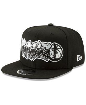 brand new e4101 833e5 New Era Dallas Mavericks Retroword Black White 9FIFTY Snapback Cap - Black  Adjustable