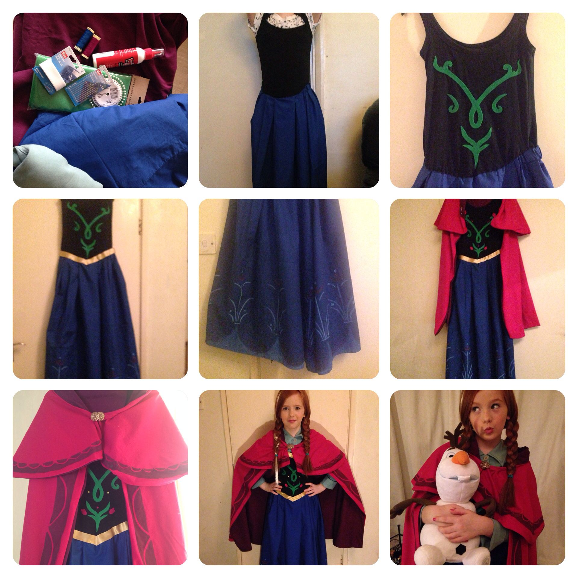 Hand made Frozen costume #Anna #Olaf  sc 1 st  Pinterest & Hand made Frozen costume #Anna #Olaf | Frozen costumes | Pinterest ...