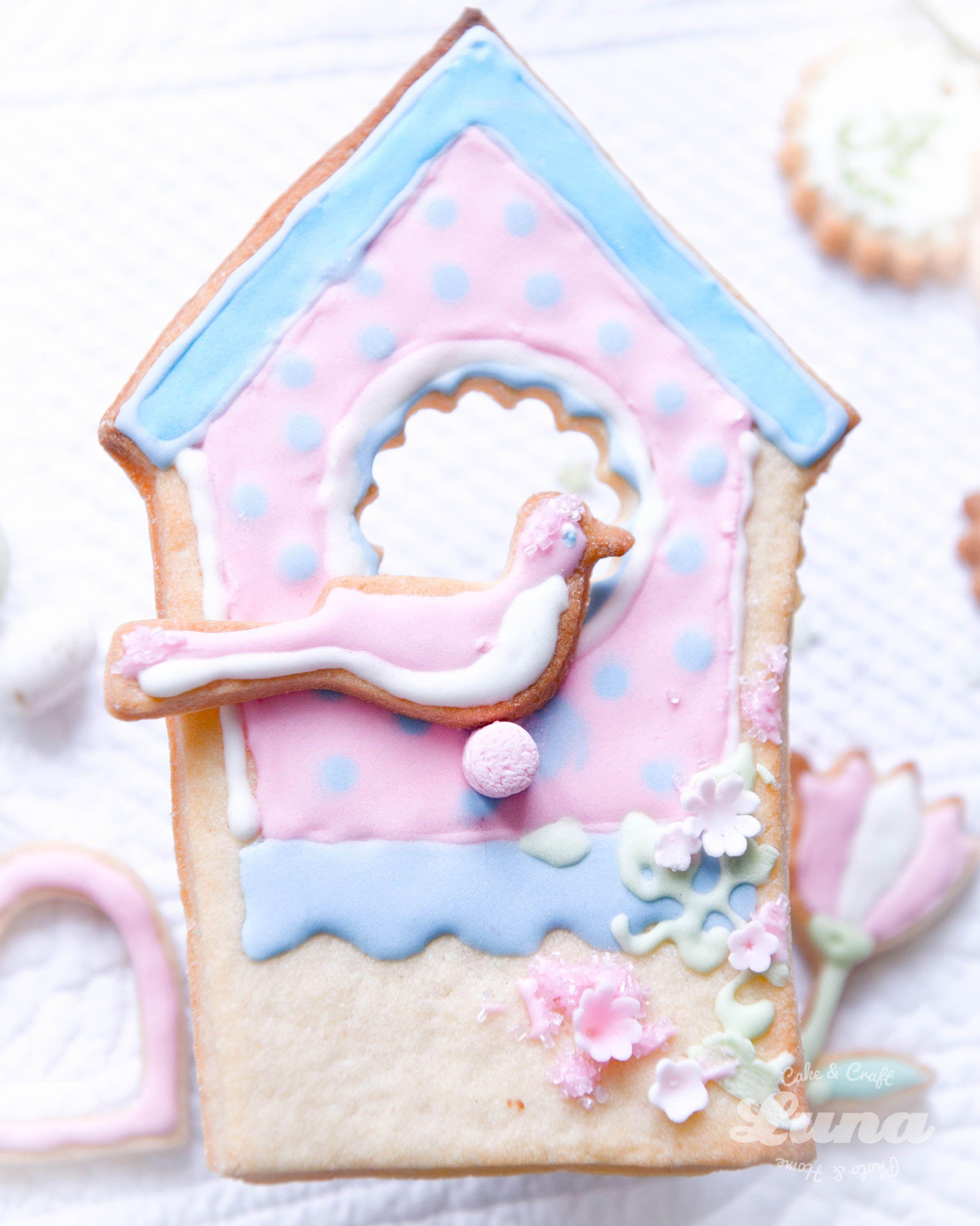 gabbietta, biscotto, decorato, zucchero, pasqua, rosa, uccellino, primavera, cake craft luna