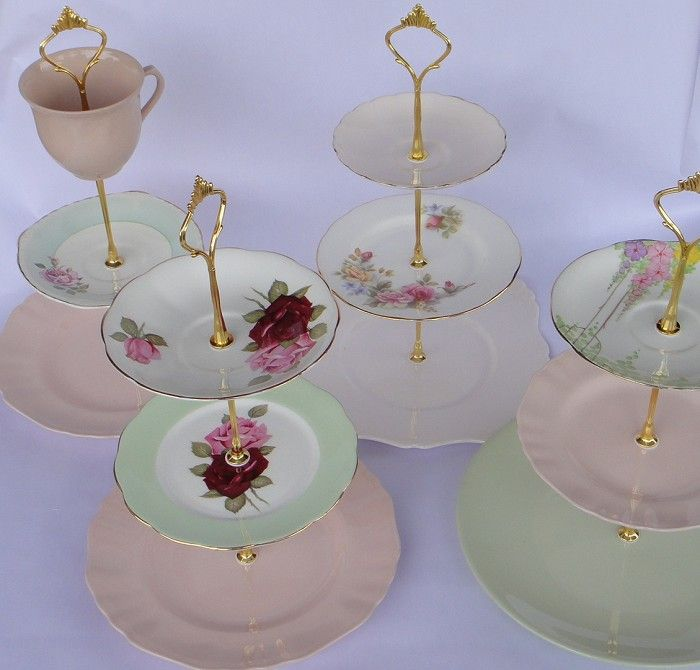 How To Make A 3 Tiered Cake Stand DIY Handles Fittings