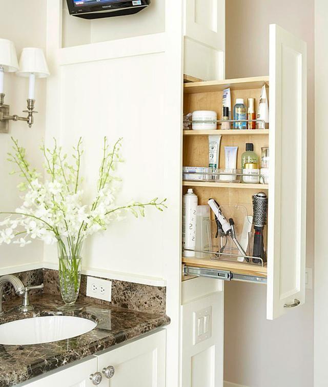Astuces int ressantes de rangement salle de bain for Astuce rangement salle de bain