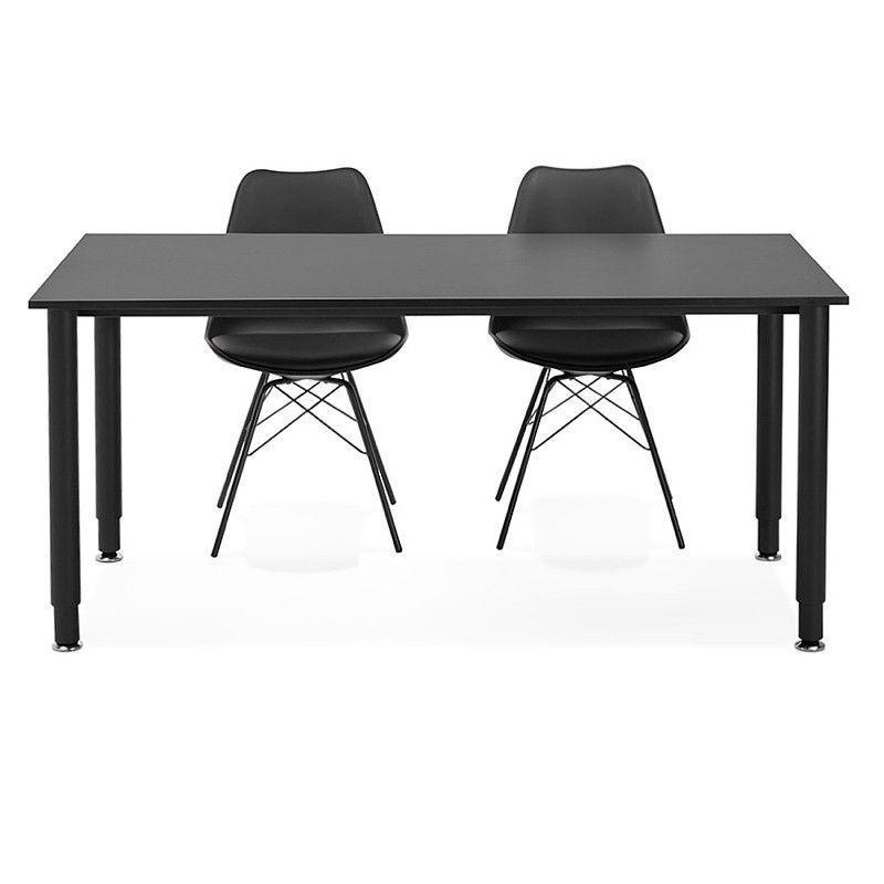 Bureau Table De Reunion Moderne 80x160 Cm Lorenzo En Bois Noir Table De Reunion Bureau Bois Table Basse