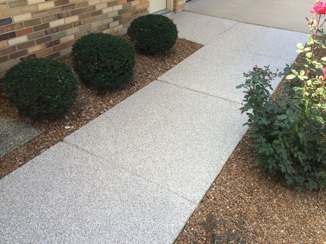 Sidewalk decorative concrete resurfacing normal il - Exterior concrete resurfacing products ...