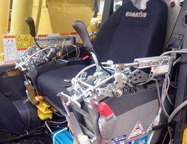 運転席の操作レバーに装着したサロゲート 운전석의 조작 레버에 장착 한 대리