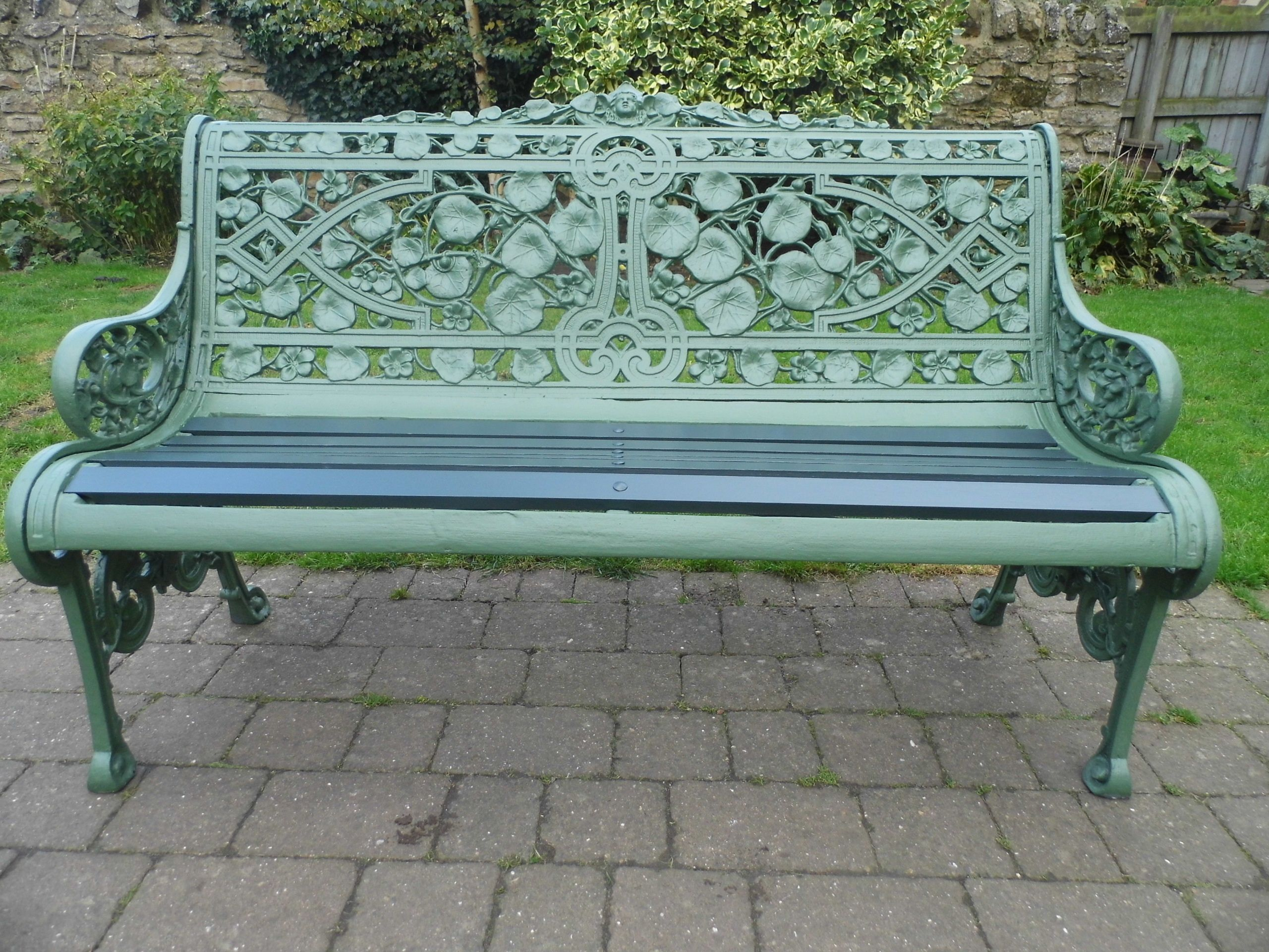 Coalbrookdale Nasturtium Bench Refurbished By Thompsons Garden