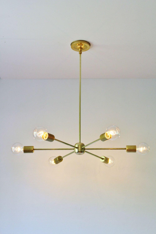 Modern brass chandelier mid century starburst sputnik chandelier modern brass chandelier mid century starburst sputnik chandelier lighting fixture 6 arms sockets mozeypictures Images