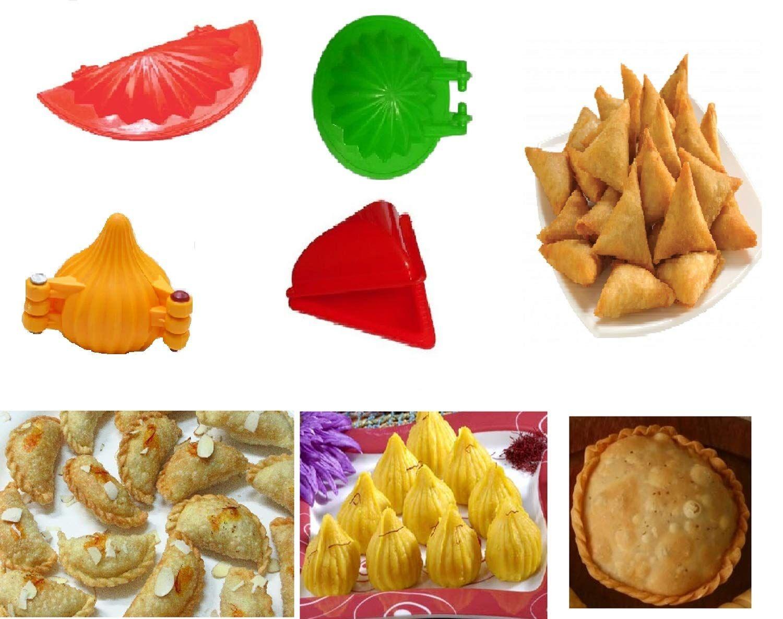 Sarvadeshi Diy 4pcs Plastic Kitchen Tool Mould Dough Press For