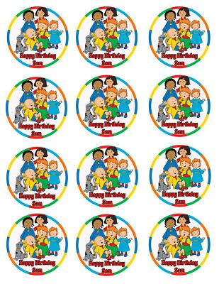 Caillou 2 Edible Cupcake Image Party Favor Supply NEW Birthday
