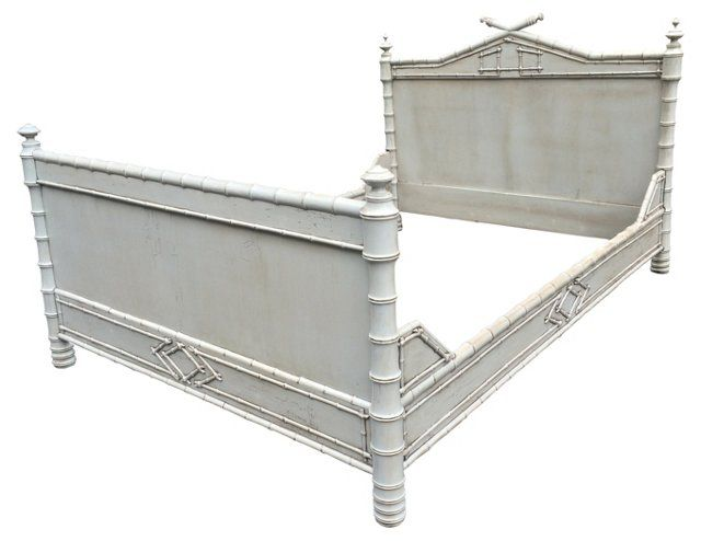 1930s Faux Bamboo Bed Queen Bamboo Bedding Bamboo Bed Frame