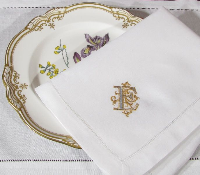 Venezia Monogrammed Linen Napkins. Also Available As Placemats, Table  Runners And Guest Towels.