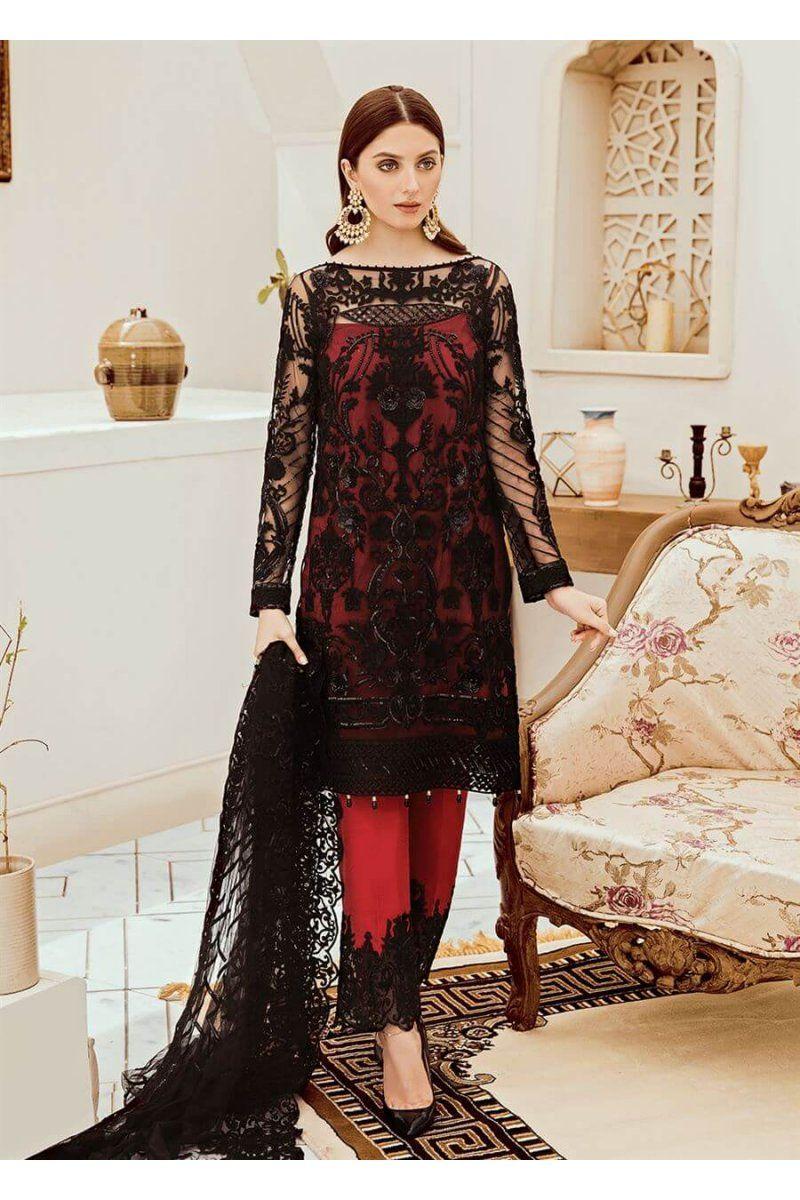 Pakistani Salwar Kameez Riona By Afrozeh Black Ruby 05 Net Dresses Pakistani Net Dress Black Net Dress [ 1200 x 800 Pixel ]
