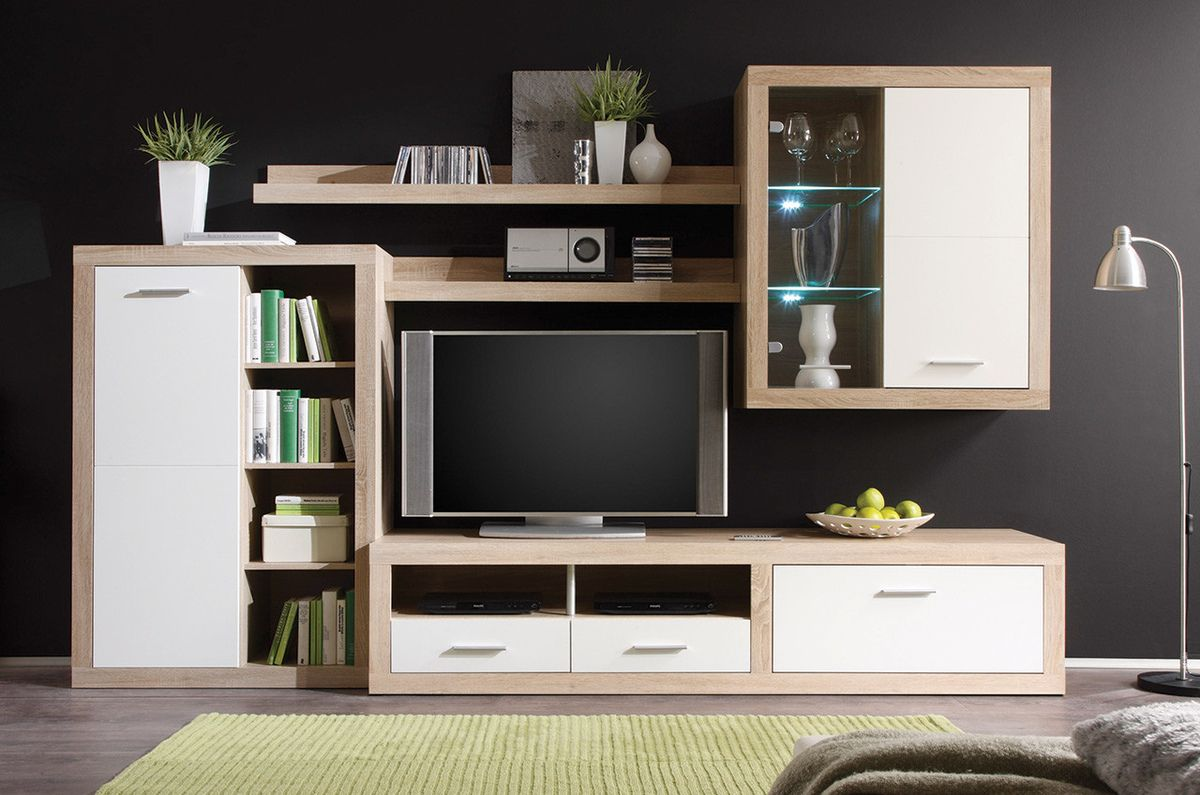 Wohnwand Altona Sekcija B921 | Tv Storage Unit, Entertainment Unit, Tv Wall Unit
