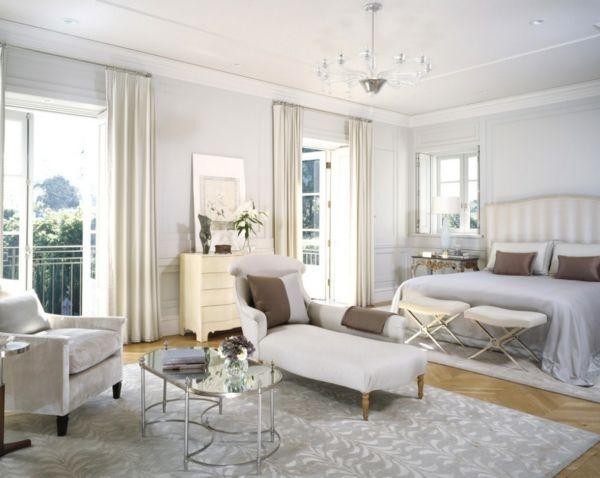 Inneneinrichtung in Weiß holz liege schlafzimmer doppelbett - schlafzimmer weiß grau
