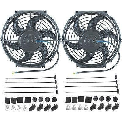 Dual 10 Inch Electric Fans Radiator Cooling Fan 80w Motor 900 Cfm
