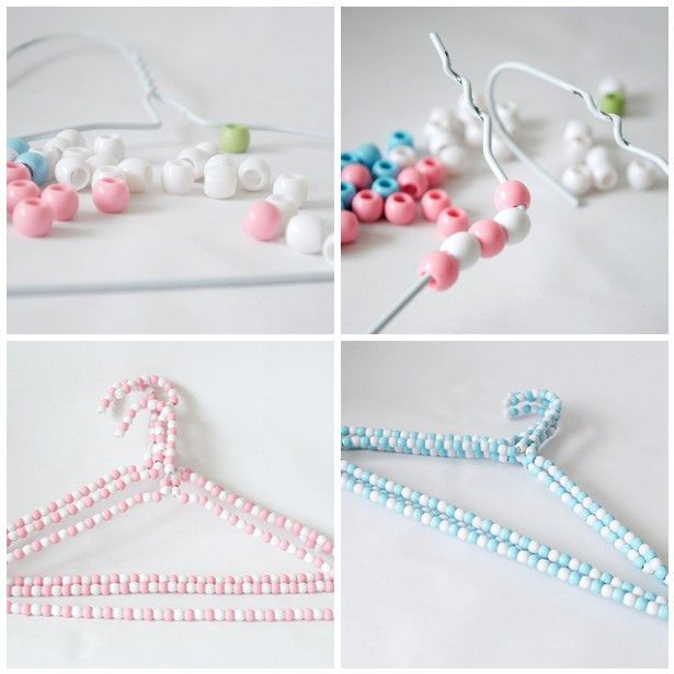 Beading Hangers Hanger Crafts Diy Clothes Hangers Clothes Pin