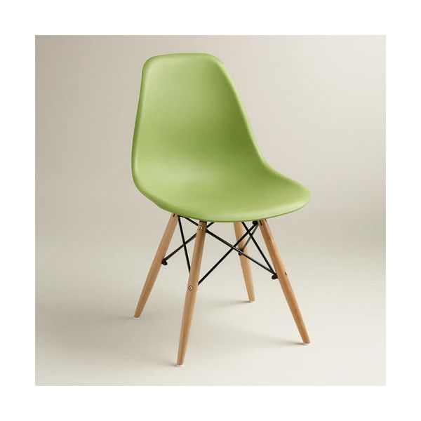 Cost Plus World Market Green Molded Evie Chairs ($120) ❤ Liked On Polyvore