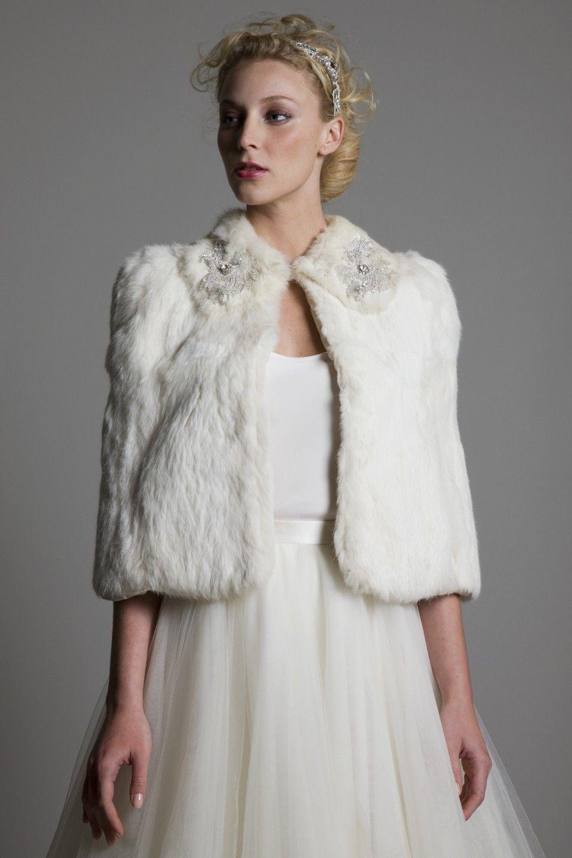 Fur wedding dress  halfpennylondon vintage fur wedding dress bridal vintage