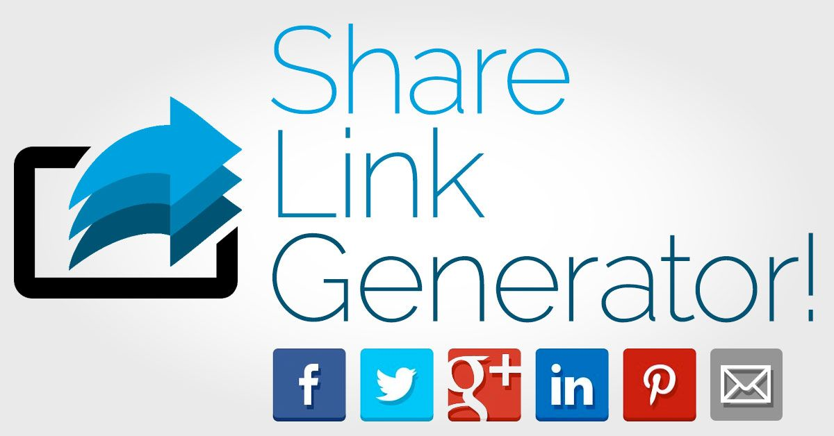Share Link Generator Facebook Twitter Google Plus Linkedin Pinterest And Email Mailto Forms Https T Co 2gjqnwiwzi Ebook Promotion Blog Help Linkedin