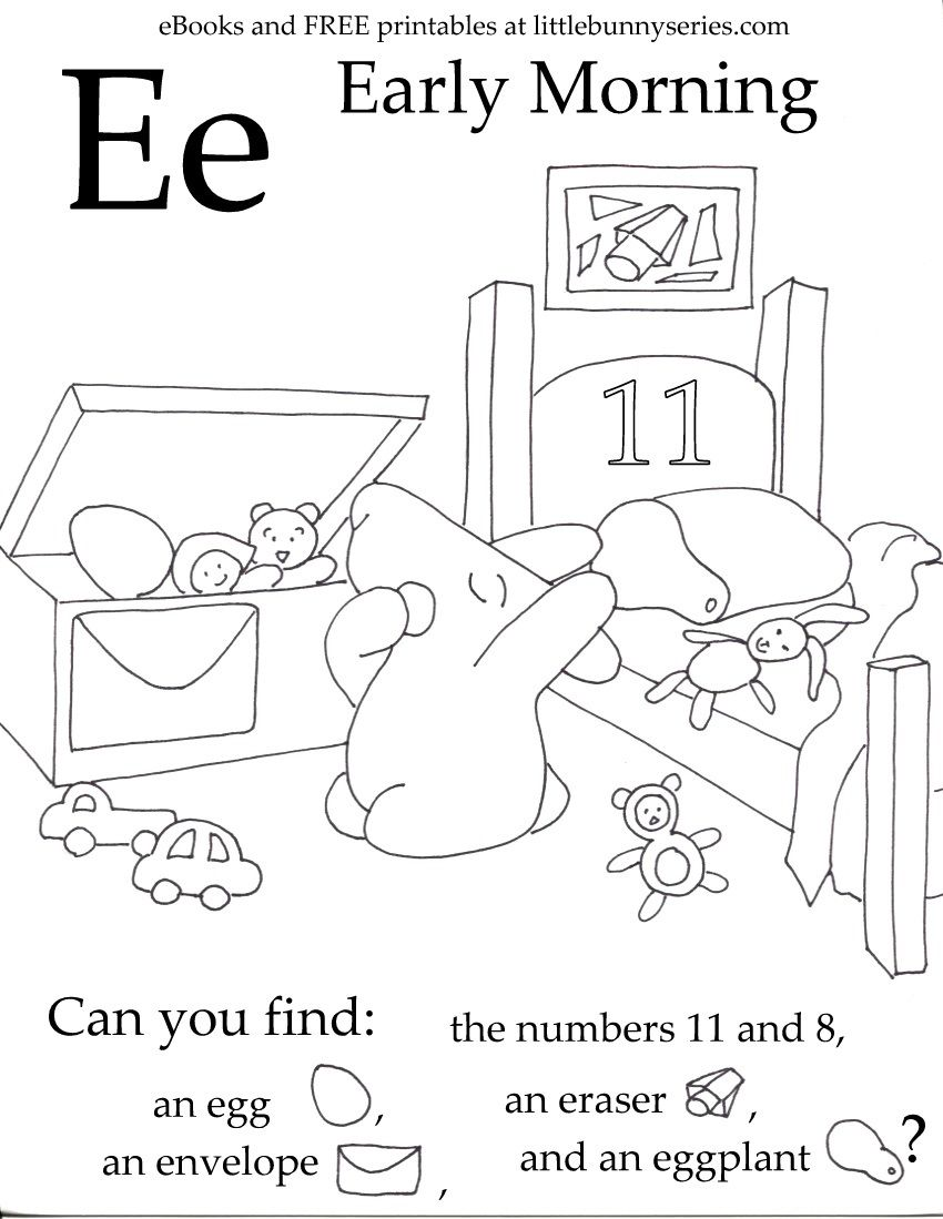 Letter E Seek And Find Pdf Letter E Worksheets Hidden Pictures Letter E Activities