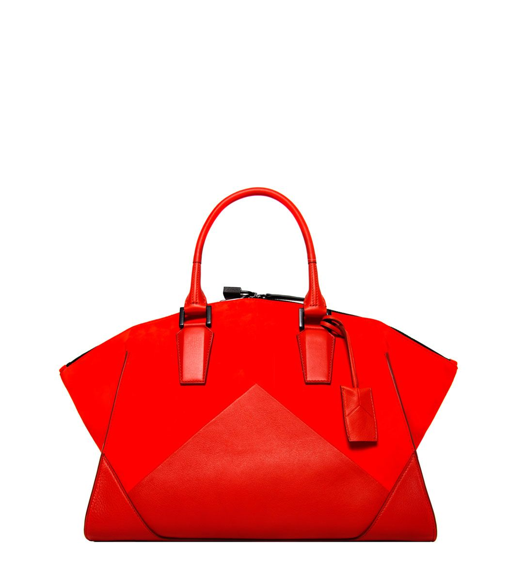ca078e7b0c Narciso Rodriguez Cayenne Suede & Leather Geometric Zip Tote - A fiery bag  to heat up your Friday.