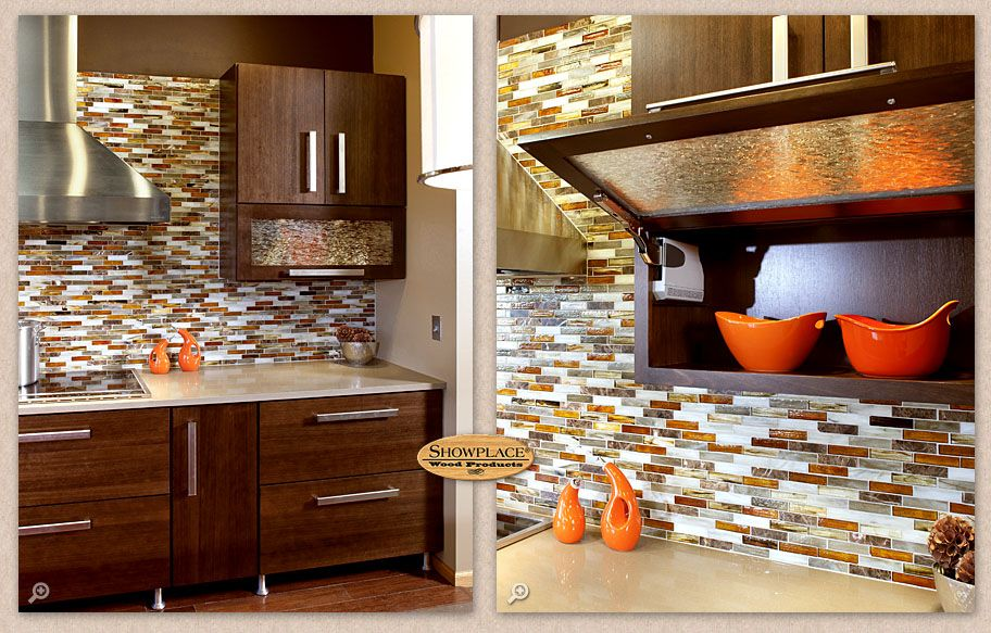 The Horizontal Wall Cabinets Are A Nice Addition To The Design Their Decorative Glass Brings Another Tex Wall Cabinet Modern Kitchen Painting Kitchen Cabinets