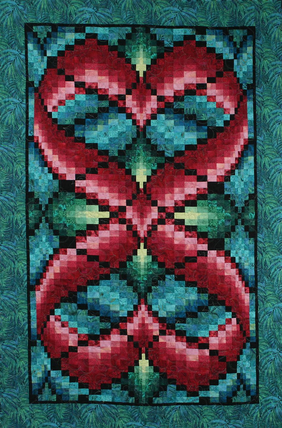 Hearts Entwined Bargello Quilt 46 X 70 Quot Pattern By Linda