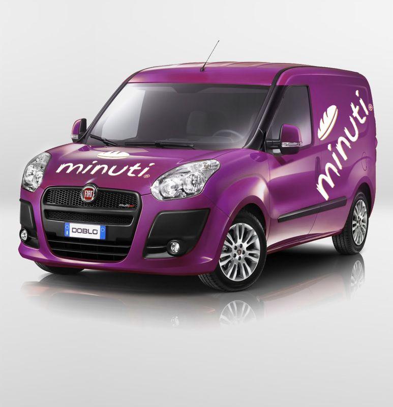 Car branding for Minuti. Fiat doblo, Vehiculos