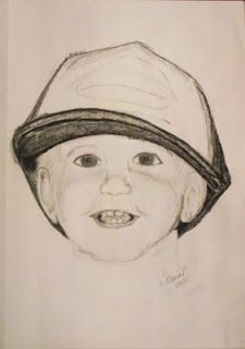 pencil drawing of my son