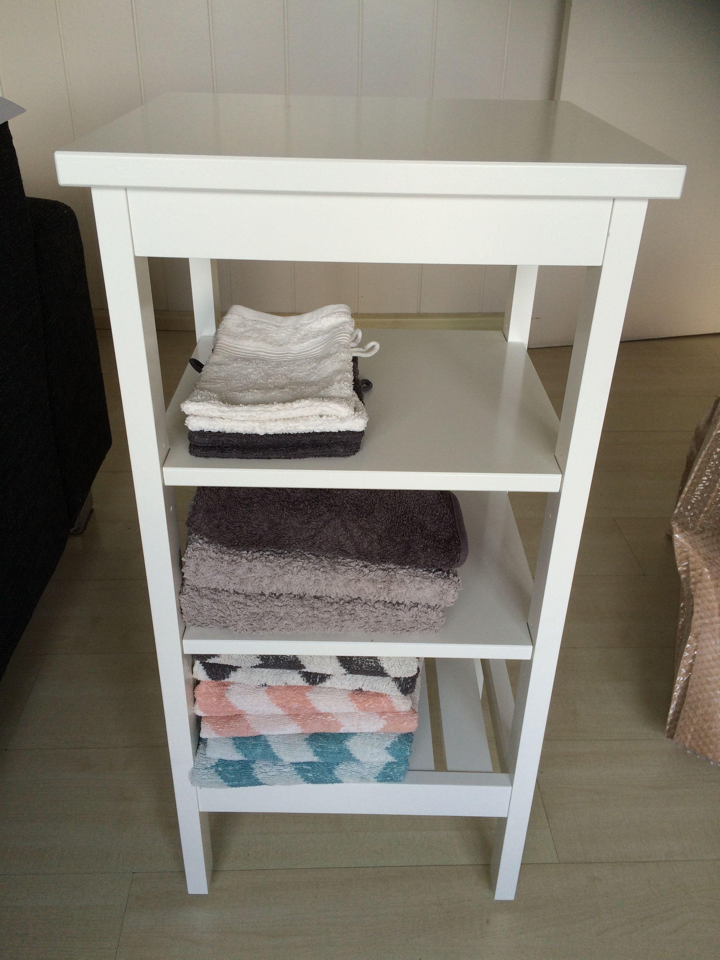 Houten Stellingkast Badkamer : Relaxdays badkamerrek klein houten rek met manden wit vrijstaand